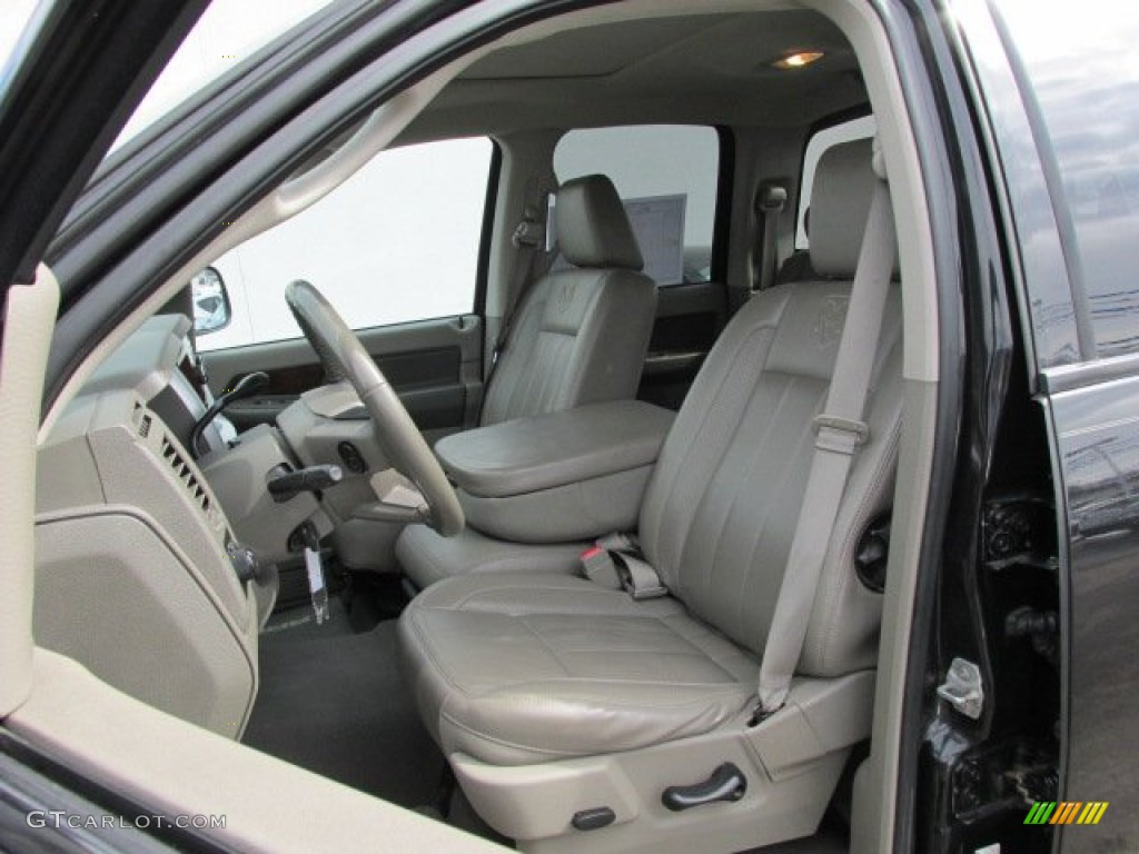 khaki interior 2008 dodge ram 1500 laramie quad cab 4x4 photo 78141699. Black Bedroom Furniture Sets. Home Design Ideas