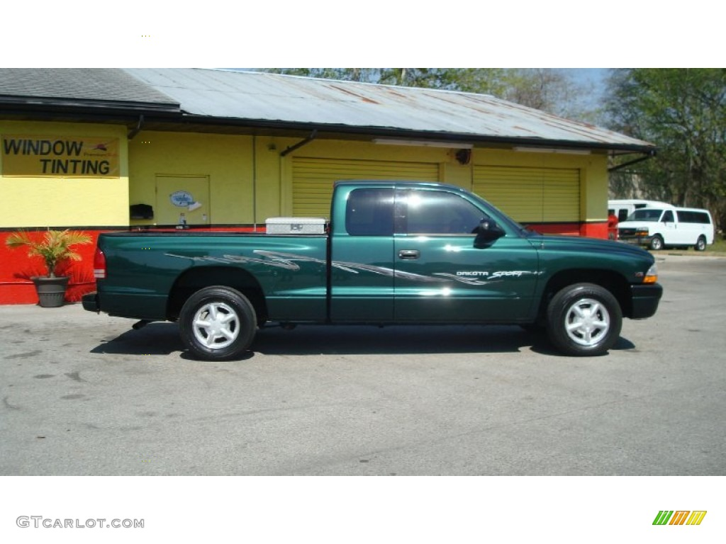 1999 forest green pearl dodge dakota sport extended cab. Black Bedroom Furniture Sets. Home Design Ideas