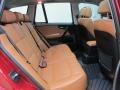 2010 BMW X3 Saddle Brown Interior Rear Seat Photo
