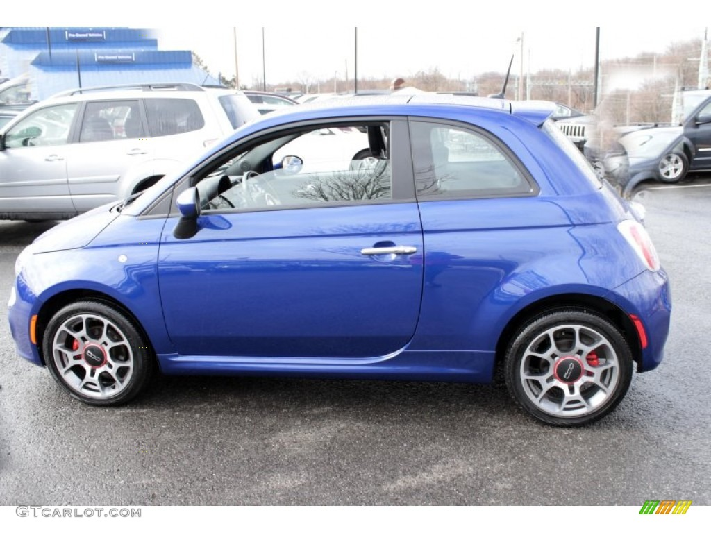 azzurro blue 2012 fiat 500 sport exterior photo. Black Bedroom Furniture Sets. Home Design Ideas