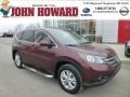 2012 Basque Red Pearl II Honda CR-V EX 4WD  photo #1