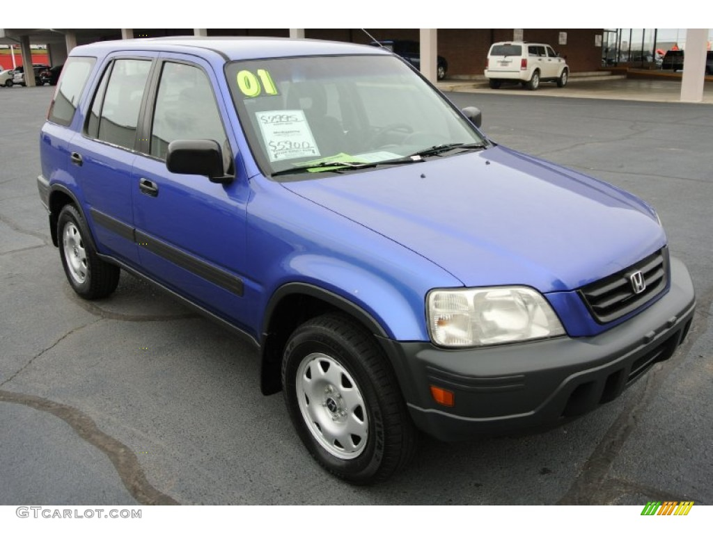 2001 electron blue metallic honda cr v lx 78214230 for Gray honda crv