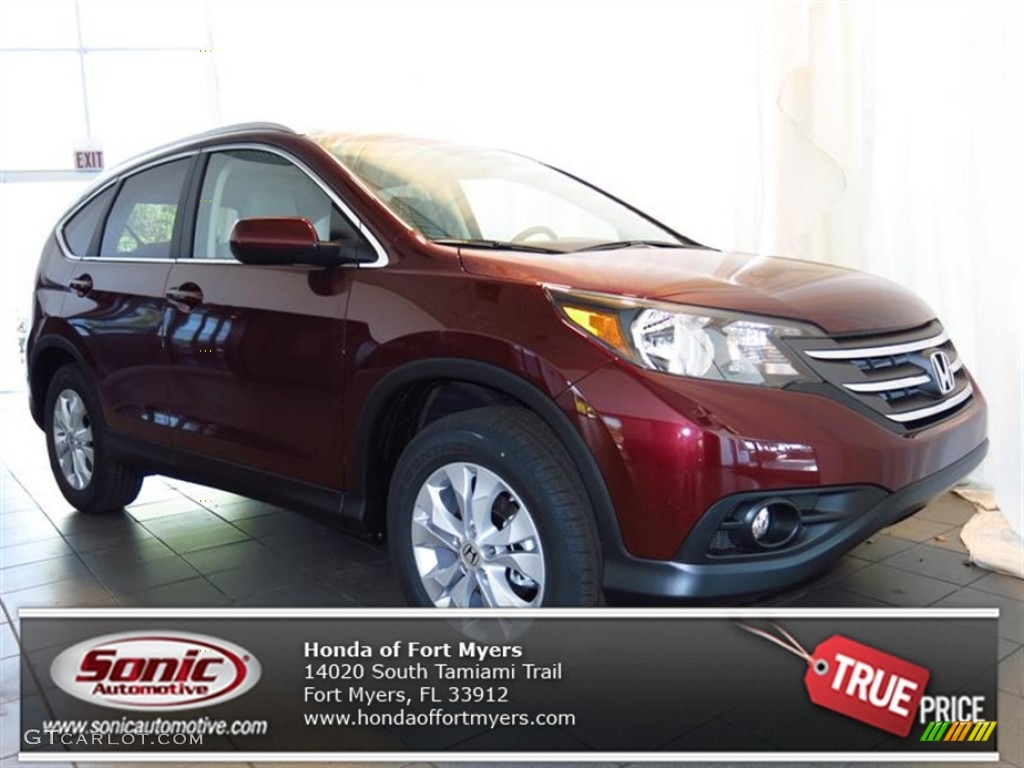 2013 CR-V EX-L - Basque Red Pearl II / Gray photo #1