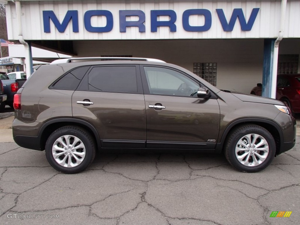 2014 Sorento EX V6 AWD   Metal Bronze / Black Photo #1