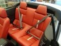 2014 Ford Mustang Brick Red/Cashmere Accent Interior Rear Seat Photo