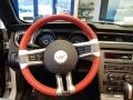 2014 Ford Mustang Brick Red/Cashmere Accent Interior Steering Wheel Photo