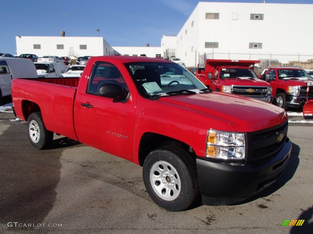 2013 Silverado 1500 Work Truck Regular Cab - Victory Red / Dark Titanium photo #4