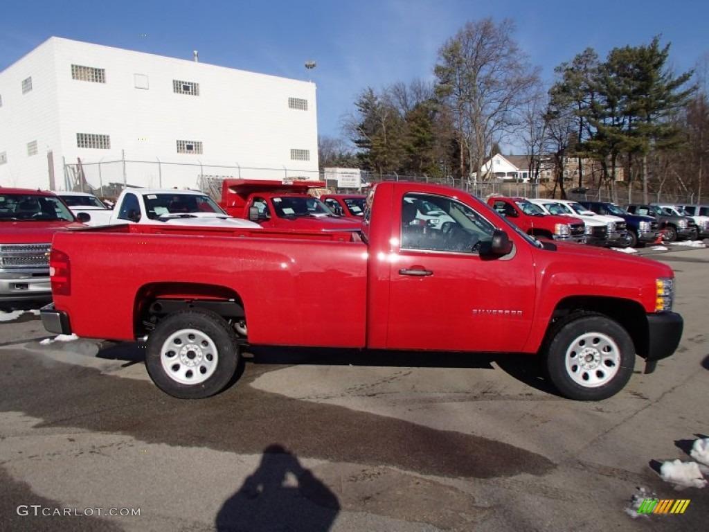 2013 Silverado 1500 Work Truck Regular Cab - Victory Red / Dark Titanium photo #5