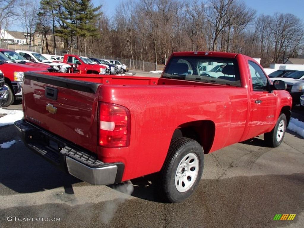 2013 Silverado 1500 Work Truck Regular Cab - Victory Red / Dark Titanium photo #6