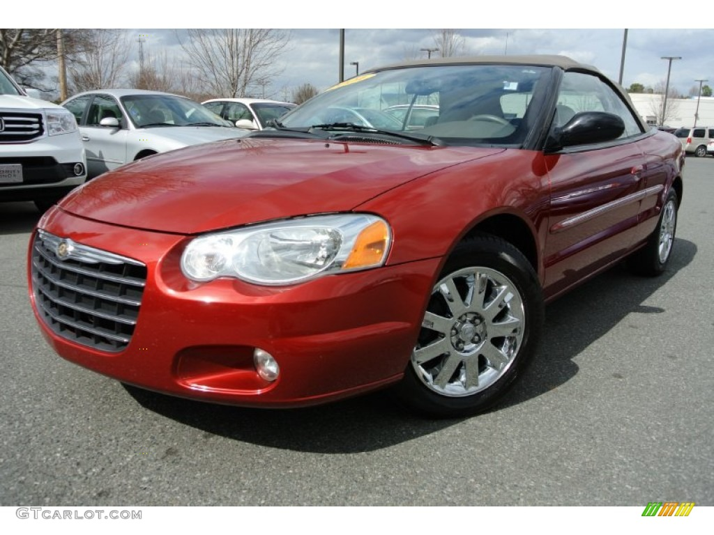 inferno red pearl 2004 chrysler sebring limited convertible exterior. Cars Review. Best American Auto & Cars Review