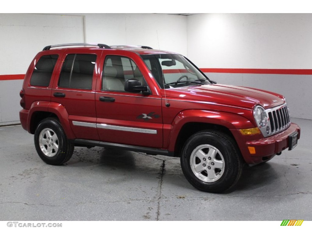 2005 inferno red crystal pearl jeep liberty crd limited. Black Bedroom Furniture Sets. Home Design Ideas