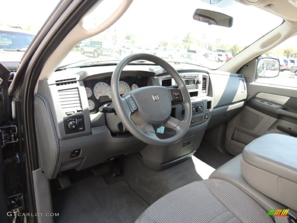 medium slate gray interior 2008 dodge ram 1500 slt quad cab photo 78251250. Black Bedroom Furniture Sets. Home Design Ideas