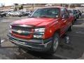 2005 Victory Red Chevrolet Silverado 1500 LS Crew Cab 4x4  photo #4