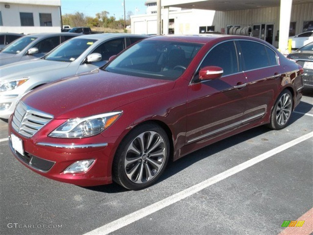 cabernet red pearl 2013 hyundai genesis 5 0 r spec sedan exterior photo 78268195. Black Bedroom Furniture Sets. Home Design Ideas