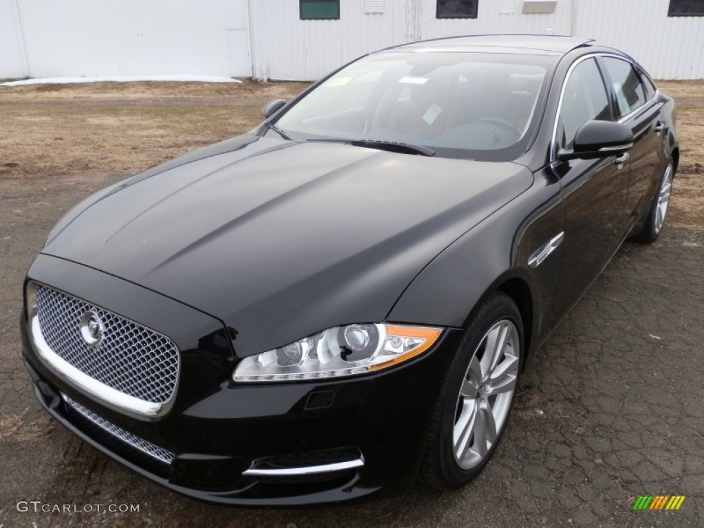 Ultimate Black Metallic Jaguar XJ