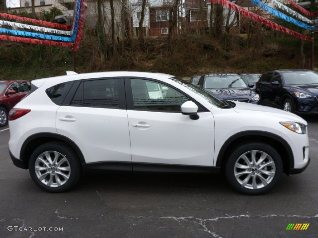 crystal white pearl mica 2014 mazda cx 5 grand touring awd exterior photo 78287983. Black Bedroom Furniture Sets. Home Design Ideas