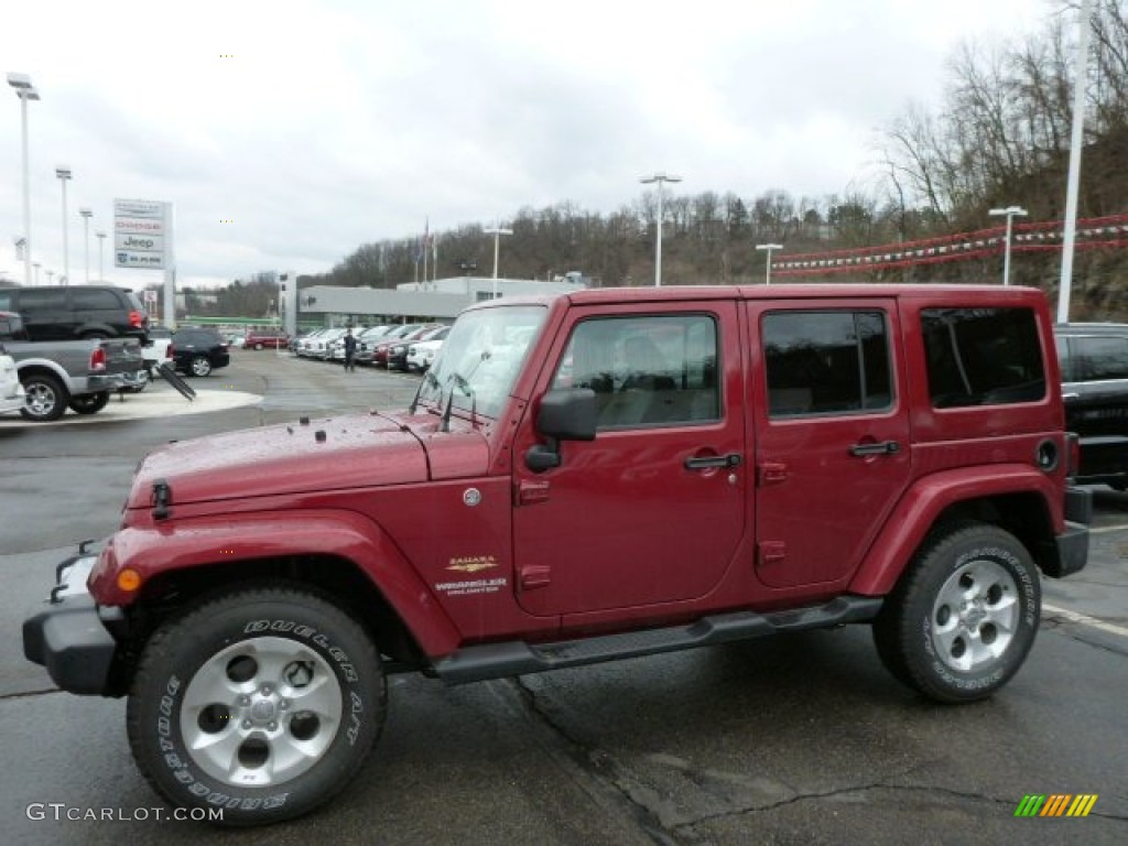 2013 Deep Cherry Red Crystal Pearl Jeep Wrangler Unlimited