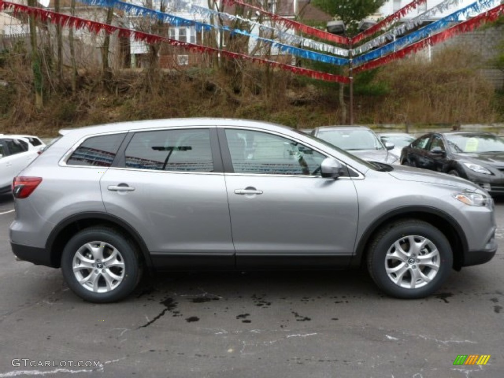 liquid silver metallic 2013 mazda cx 9 sport awd exterior. Black Bedroom Furniture Sets. Home Design Ideas