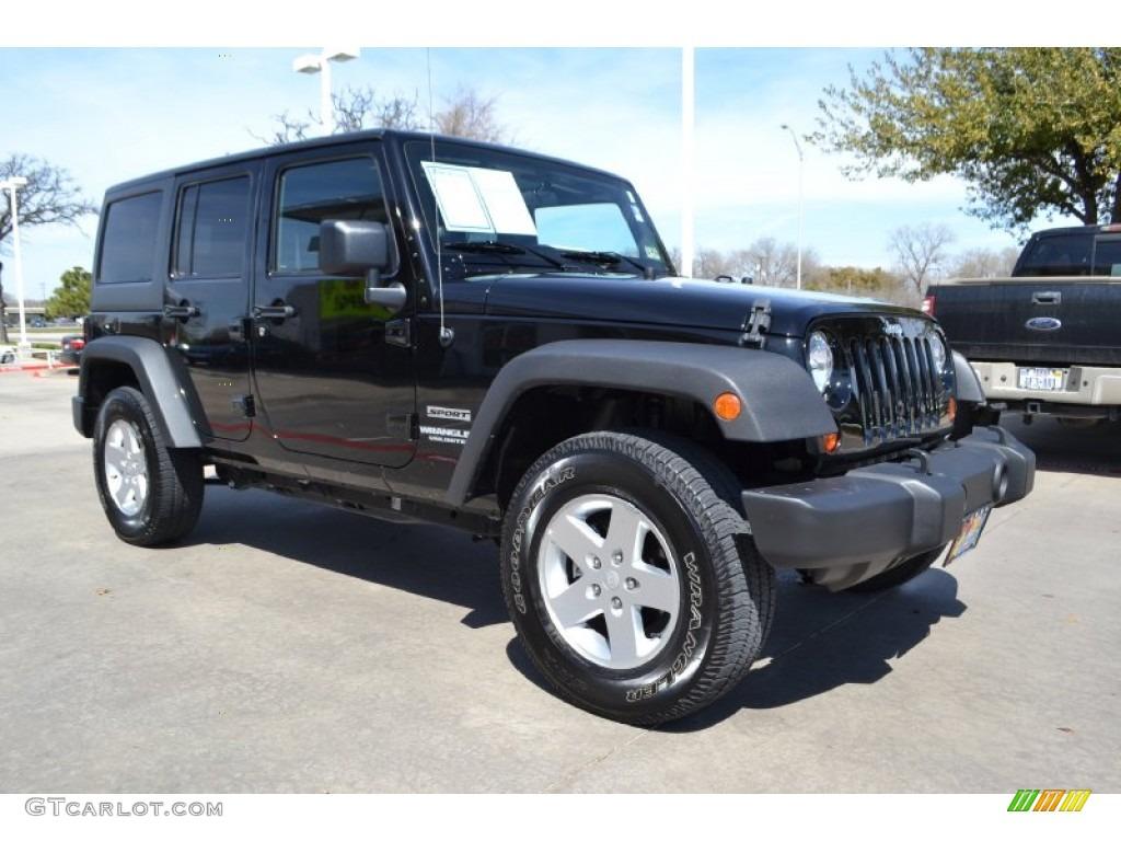 black 2011 jeep wrangler unlimited sport 4x4 exterior photo 78291097. Black Bedroom Furniture Sets. Home Design Ideas