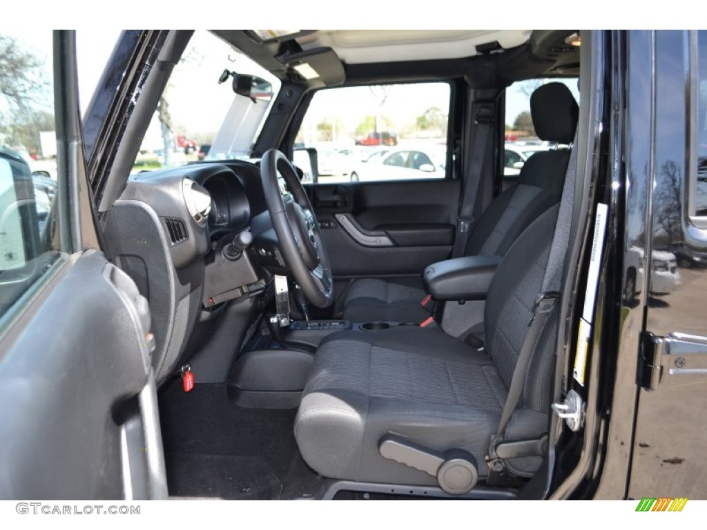 Black Interior 2011 Jeep Wrangler Unlimited Sport 4x4 Photo 78291139