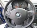 2008 BMW X3 Black Interior Steering Wheel Photo