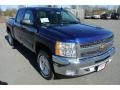 2013 Blue Topaz Metallic Chevrolet Silverado 1500 LT Crew Cab 4x4  photo #2