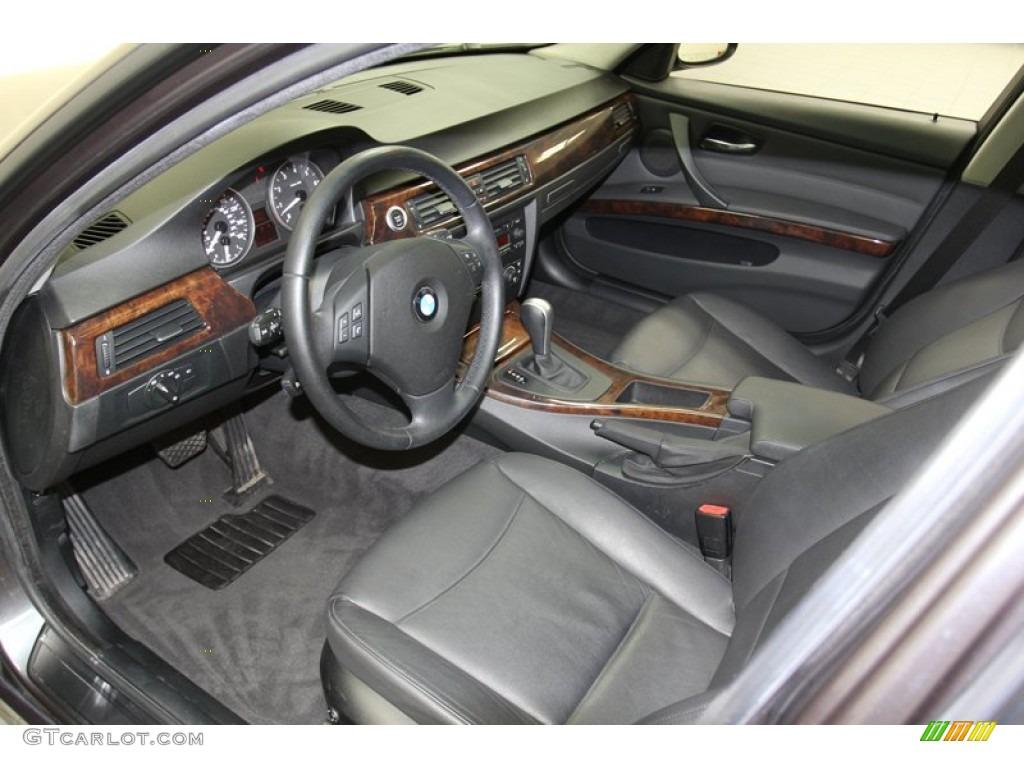 Black Interior 2006 BMW 3 Series 325i Sedan Photo #78309733