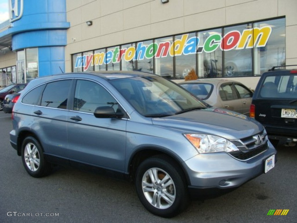 2011 CR-V EX 4WD - Glacier Blue Metallic / Gray photo #1