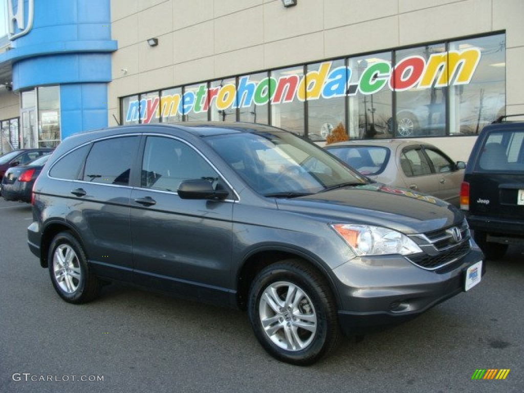 2010 CR-V EX AWD - Polished Metal Metallic / Black photo #1