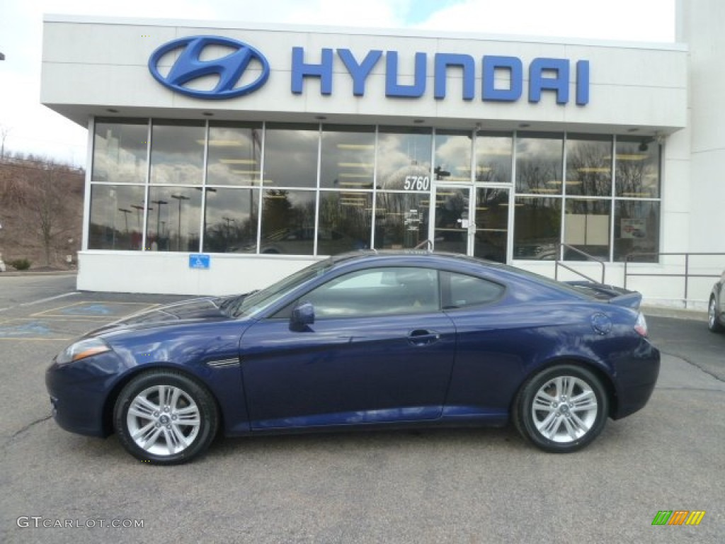 Wonderful Regatta Blue Hyundai Tiburon. Hyundai Tiburon GS