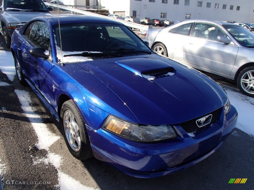 Sonic Blue Metallic Ford Mustang
