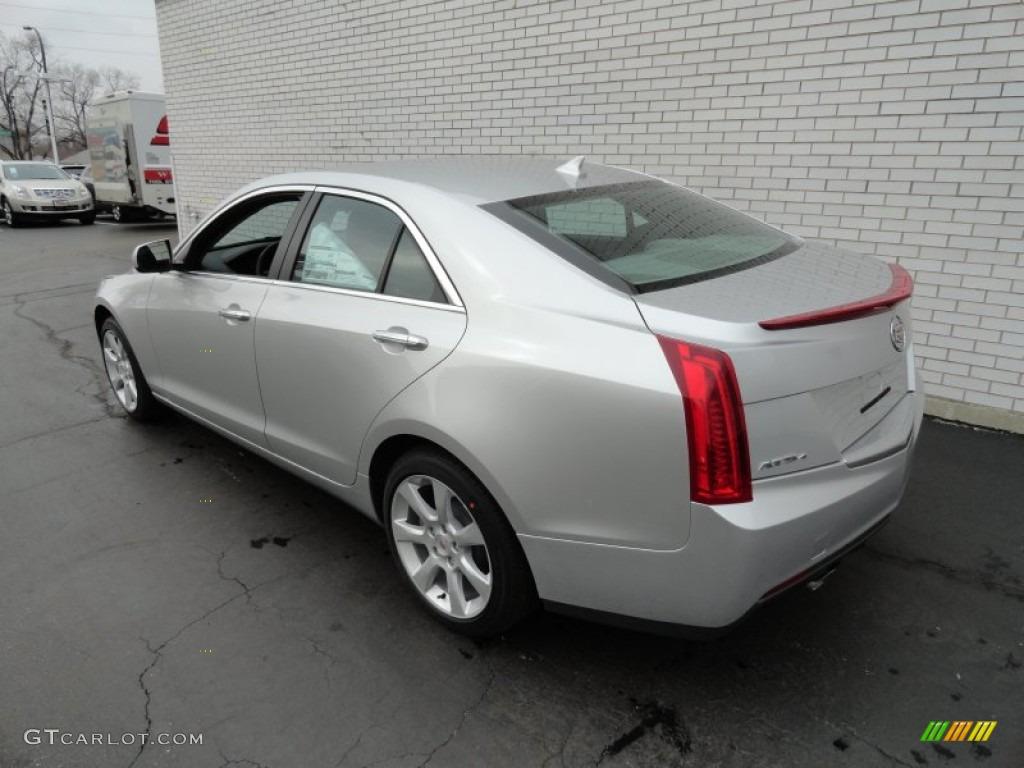 Radiant Silver Metallic 2013 Cadillac Ats 2 0l Turbo Awd