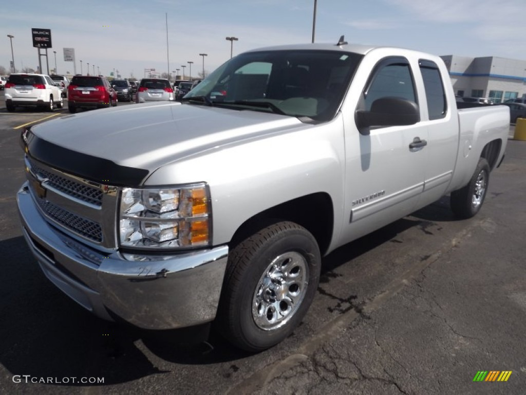 2013 Silverado 1500 LS Extended Cab - Silver Ice Metallic / Dark Titanium photo #1