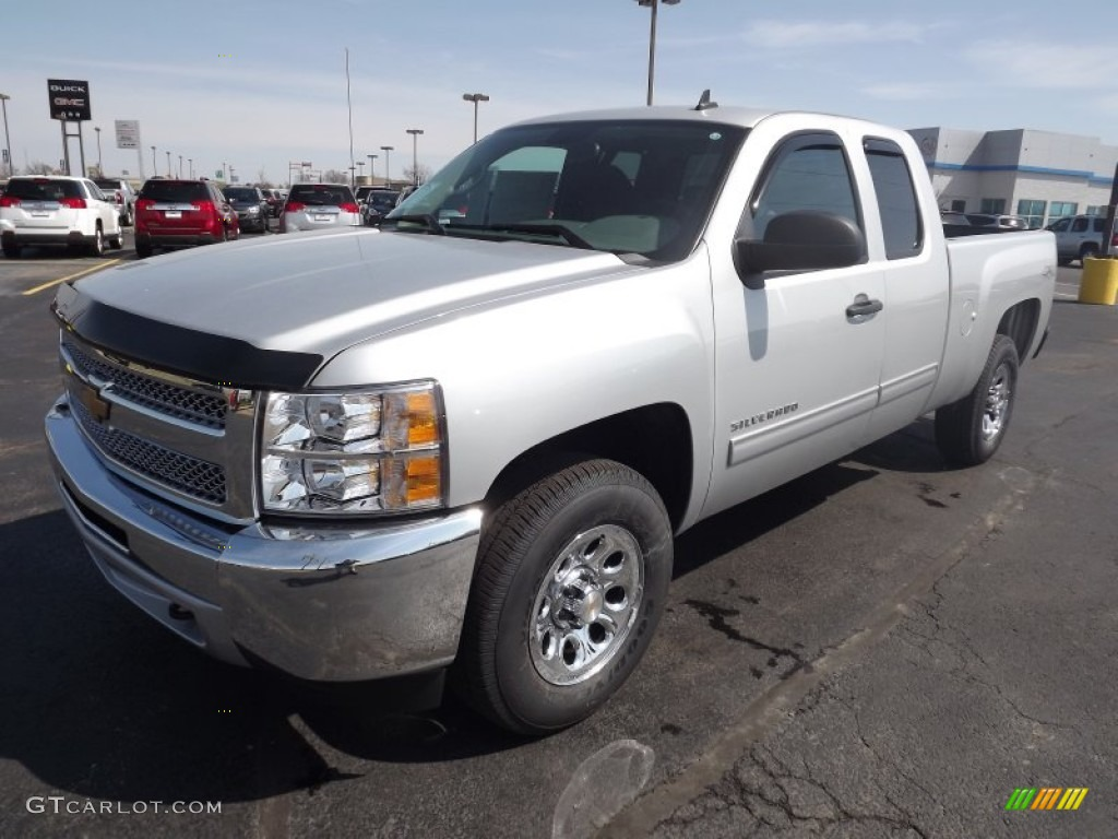 2013 Silverado 1500 LS Extended Cab 4x4 - Silver Ice Metallic / Ebony photo #1