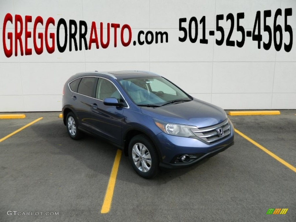 2013 CR-V EX-L - Twilight Blue Metallic / Gray photo #1