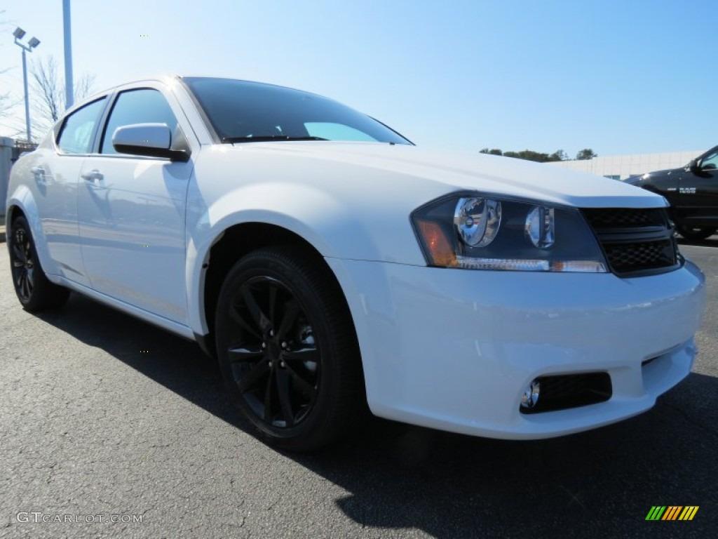 New Bright White 2013 Dodge Avenger Sxt Blacktop Exterior