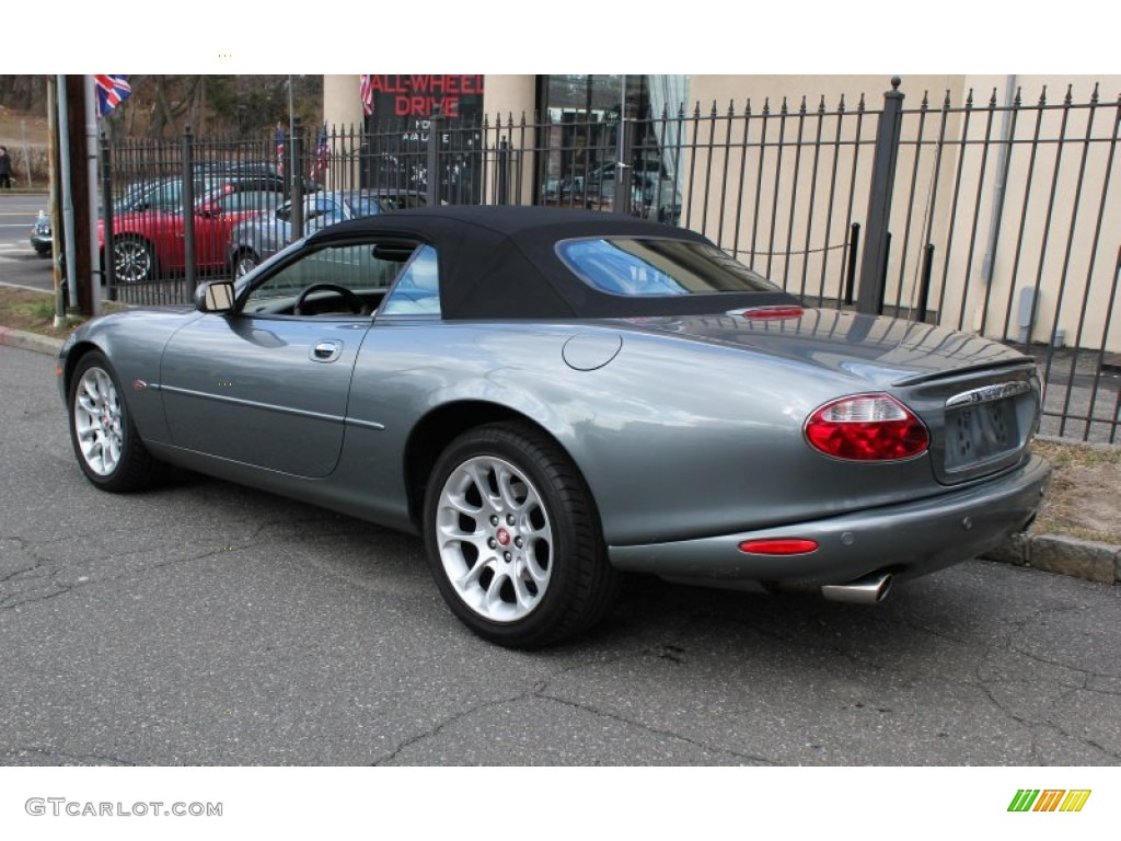 2002 jaguar xk xkr convertible quartz metallic color oatmeal
