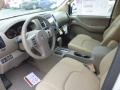 2013 Nissan Frontier Beige Interior Front Seat Photo