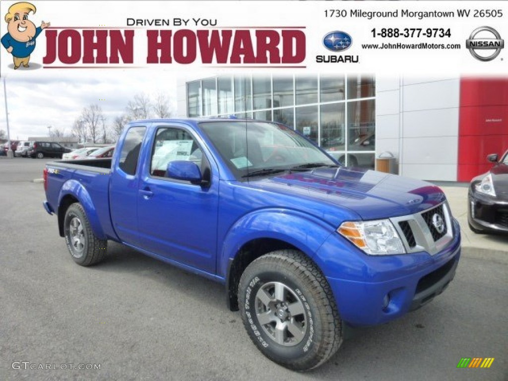 2013 Metallic Blue Nissan Frontier Pro 4x King Cab 4x4
