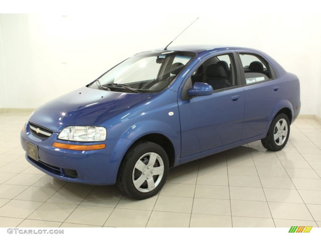 bright blue 2006 chevrolet aveo ls sedan exterior photo. Black Bedroom Furniture Sets. Home Design Ideas