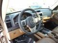 Dark Slate Gray/Dark Saddle 2012 Jeep Liberty Interiors