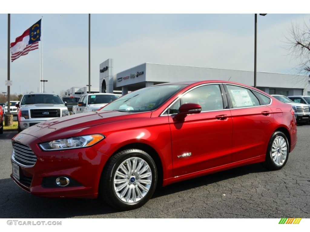 Ruby Red Metallic 2013 Ford Fusion Hybrid Se Exterior Photo 78469246