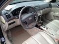 Beige 2008 Hyundai Sonata Interiors