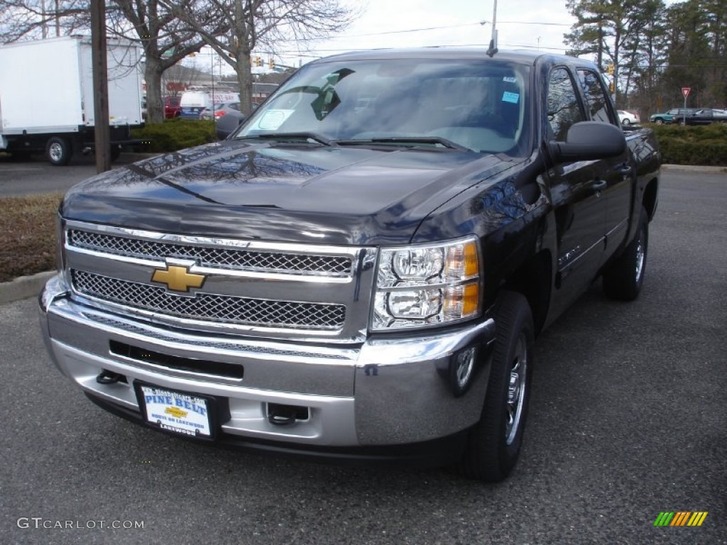 2013 Silverado 1500 LS Crew Cab 4x4 - Black / Dark Titanium photo #1
