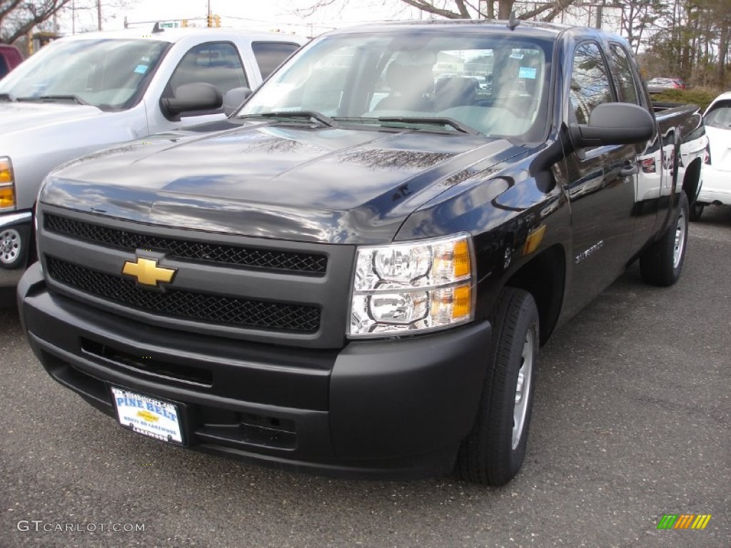 2013 Silverado 1500 Work Truck Extended Cab - Black / Dark Titanium photo #1