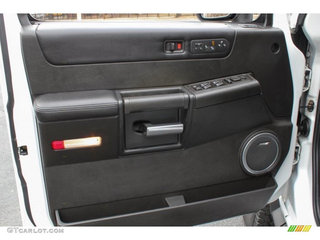 2007 hummer h2 suv ebony black door panel photo 78495230 - 2003 hummer h2 interior door panel ...