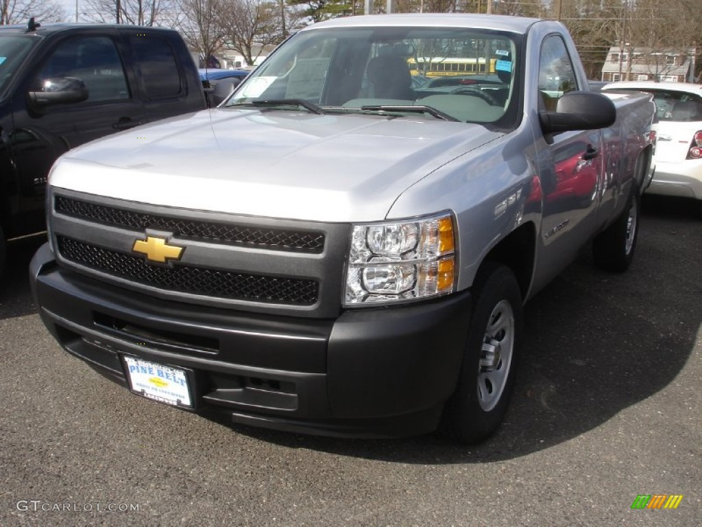 2013 Silverado 1500 Work Truck Regular Cab - Silver Ice Metallic / Dark Titanium photo #1