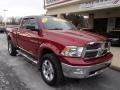 2011 Deep Cherry Red Crystal Pearl Dodge Ram 1500 Big Horn Quad Cab 4x4  photo #2