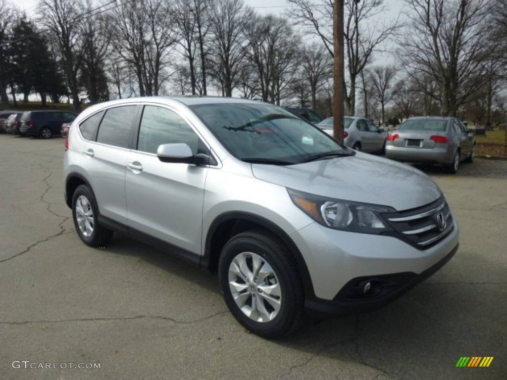 2013 CR-V EX AWD - Alabaster Silver Metallic / Gray photo #1