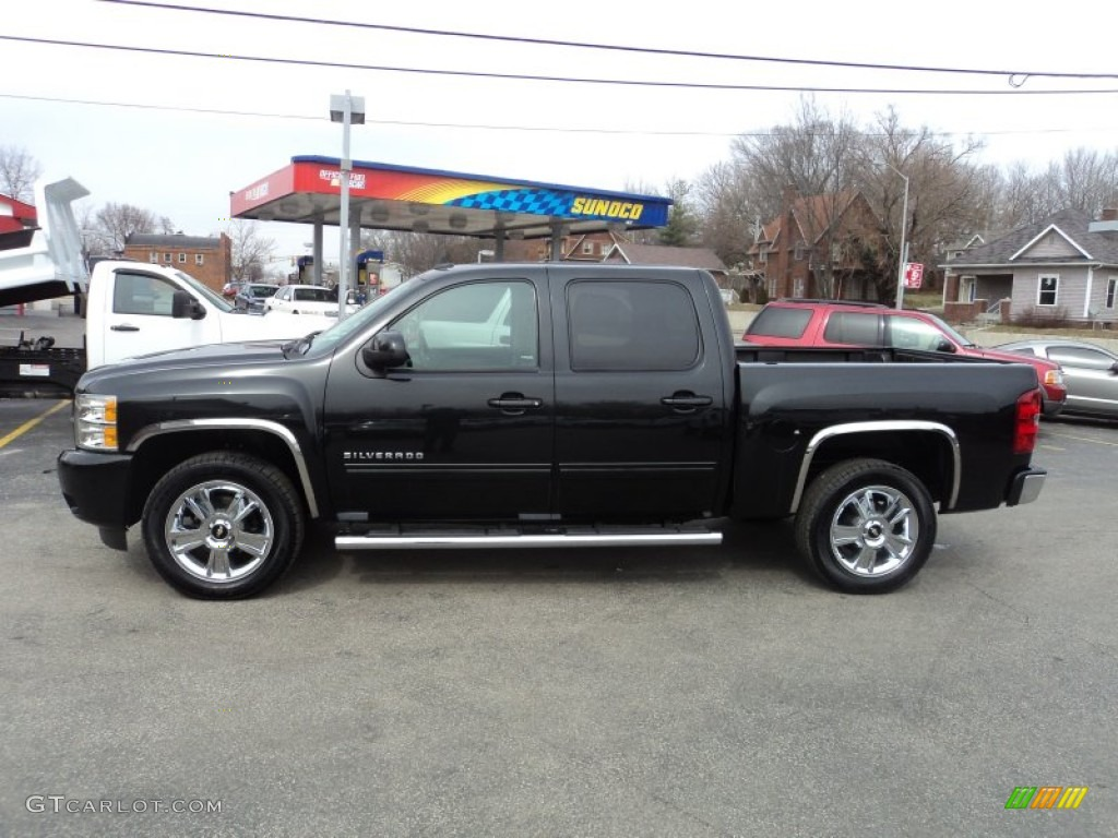 2012 Silverado 1500 LTZ Crew Cab 4x4 - Black Granite Metallic / Ebony photo #1